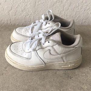 ✅Kids Toddler Nike Air Force 1 White shoes 10C